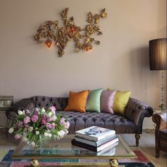 Meet the Designer: Clare Harries of Tallulah and Rose Blog Design Inspiration, Beautiful Sofas, Retro Furniture, Mid Century Furniture, Bold Colors, Layout, Couch, Living Room, House Styles