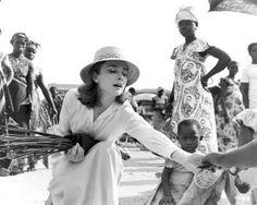 Audrey Hepburn in the Belgian Congo, 1959. Photo by Leo Fuchs.