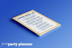 SUPER BOWL 52 Party Game // Super Bowl Drinking Game Printable // Football Drinking Game by proPartyPlanner Super Bowl Drinking Game, Drinking Games, Ikea Tolsby Frame, Super Bowl 52, The End Game, 50th Party, Different Games, Letter Size Paper, Party Shop