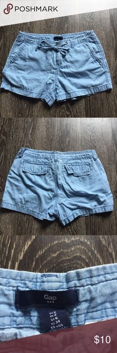 Gap chambray shorts Gently used. Purchased from gap outlet. Lightweight cotton shorts with a drawstring waist. GAP Shorts