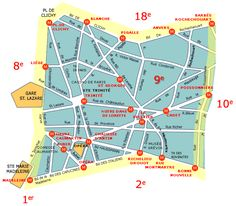 neighborhood maps of paris france