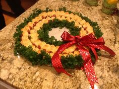 how to make a mini sausage wreath
