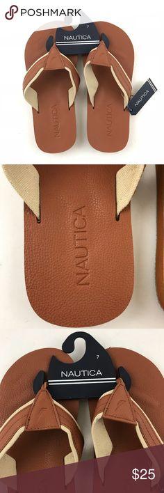 5676b9491346d Nautica 7 Men Sandal Tan Flip Flop Bowen Sandal Nautica 7 Men Sandal Tan Flip  Flop