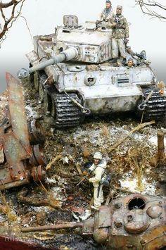 Panzerkampfwagen VI TIGER I dioráma