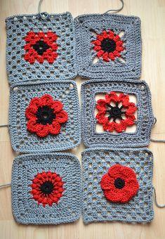 Ravelry: hieke's #12 - #17 Poppy squares