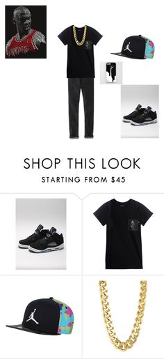 """jordan set #1"" by mekhiharris ❤ liked on Polyvore featuring beauty, NIKE, Hype Means Nothing and CC SKYE"
