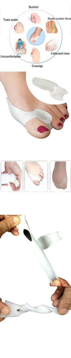 1pair/lot Best Selling Beetle-crusher Bone Ectropion Big Toe Separator Silicone Gel Orthoses Professional Massager Health Care