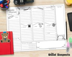 FREE printable weekly craft planner | bullet journal