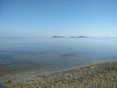Playa de los Urrutias, mar menor (Cartagena). Apreciar su entorno