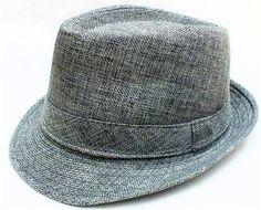 Unisex Structured Fedora Tribly Belt Gangster Panama Hat Cap GRAY | eBay