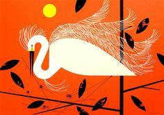 Egret by Charley Harper