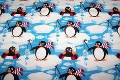 Baumwolljersey Lillestoff Ringo the Pingu Pinguin Fisch BIO Jersey GOTS