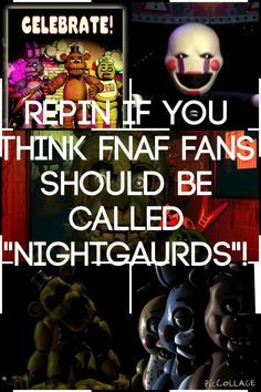 what, is this not a thing already. i just realized ours fans dont really have names, we are just fnaf fans.<< NO, WE ARE *Drum role* NIGHTGAURD'S! Five Nights At Freddy's, Fnaf 1, Markiplier Fnaf, Anime Fnaf, Scary Games, Freddy 's, Memes, Fnaf Sister Location, Fnaf Characters