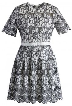 Floral Fantasies Embroidered Dress in White - New Arrivals - Retro, Indie and Unique Fashion