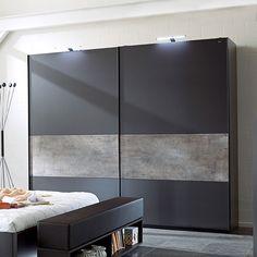 Armoire noire et blanche laqué design ELINE | Meubles chambre adulte ...