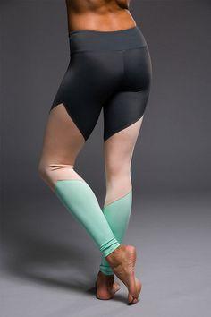Onzie Track Legging - Titanium / Blush / Spearmint