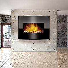 $300 plug in, not the canisters of gel!!!  get spray paint rated for fire...   Arched Glass Front Electric Fireplace