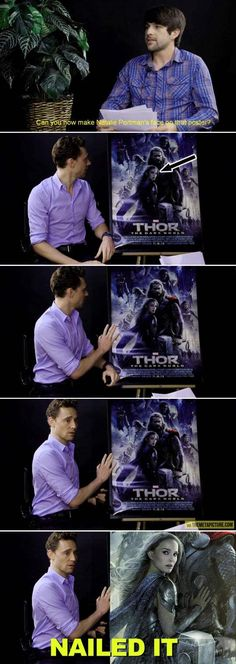 Hey Loki, Can You Imitate Natalie Portman