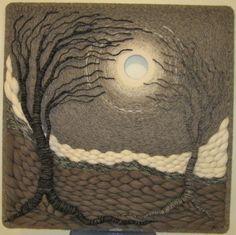 Gloria McRoberts.  3D, Woven wool roving.