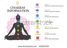 Chakras information. Isolated minimalistic icons. High quality vector objects.