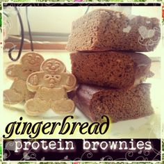 Ripped Recipes - Gingerbread Protein Brownies - For all of you who are just as obsessed with Gingerbread as I am, this will be your healthy fix.