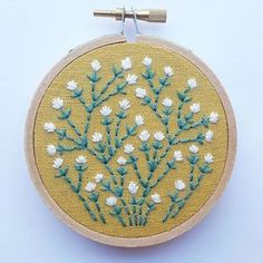 This piece was stitched with hand-dyed silk and wool floss from @littletwigdesigns Her thread is such a treat to work with, and I love the texture it adds. This hoop will be listed in my shop update next week. Happy Wednesday!