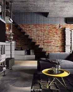 That exposed brick wall is awesome!