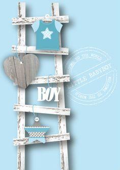 Felicitatie Jongen Ladder - Felicitatiekaarten - Kaartje2go