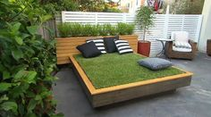 Most of us don't have to worry about weeding our beds, unless out beds are very, very dirty. But then again, most of us don't have outdoor day beds with a mattress made out of real grass. Jason Hodges,...