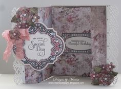 Designed by Marisa Job using JustRite Papercraft Enjoy the Day Vintage Labels Four Stamps and Spellbinders Dies.