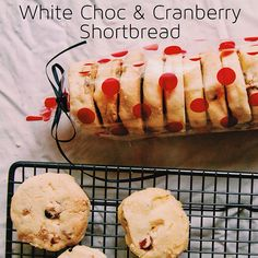White Chocolate + Cranberry Shortbread - the kitchen & the camera