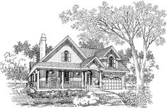Country House Plan with 1963 Square Feet and 3 Bedrooms from Dream Home Source | House Plan Code DHSW41855