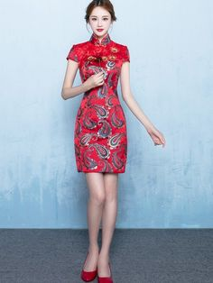 Love Forever Red Qipao / Cheongsam Wedding Dress