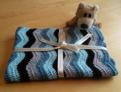 Baby blanket crochet ripple blanket baby by LittleMunchkins1981