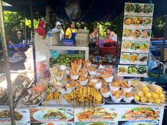 Street eats - 100 baht a meal - look at all that beautiful food!