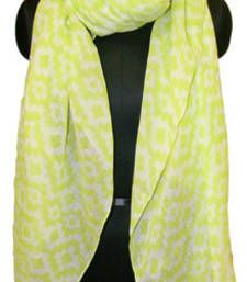 Buy GRAPHIC STEPS WITH SEQUENCE GREEN GLITTERING SCARF scarf online