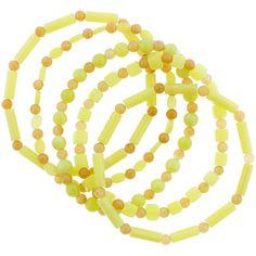 Talia Merav Jade & Red Aventurine Stretch Bracelet (€15) ❤ liked on Polyvore featuring jewelry, bracelets, red jewellery, stretch jewelry, red jade jewelry, red jewelry and jade jewellery