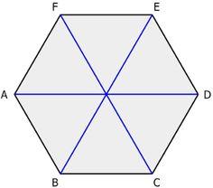 Hexagon, long diagonals