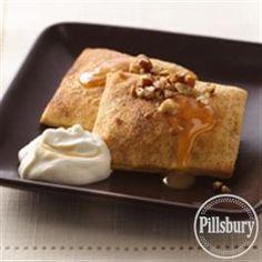 Pumpkin Ravioli with Salted Caramel Whipped Cream from Pillsbury Baking
