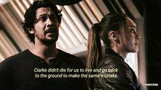 Bellamy Blake always thinking about Clarke.