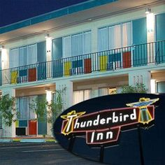 yep, here's where we are staying, haha! retro, colorful, super cheap, plus they leave moonpies on your bed and have krispy kreme donuts for breakfast. its gonna be heaven.