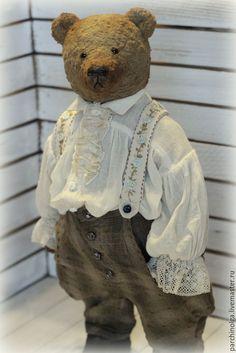 Купить Герман - бежевый, тедди, тедди мишка, тедди медведи, мишка ручной работы