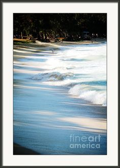 "Surf And Shade Framed Print By Flamingo Graphix John Ellis. Available in many formats, sizes and prices. Note: watermark ""Fine Art America"" will not appear on final print."