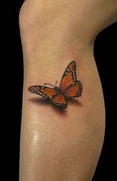 3D Butterfly Tattoo Design Idea - Tattoo Design Ideas