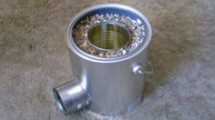 How To Make A Tin Can Rocket Stove For $5 - DIY Homemade Survival Stove
