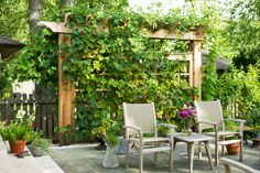 Nice wood pergola screen Wilmette Residence - traditional - patio - chicago - The Arrow Shop, Ltd.