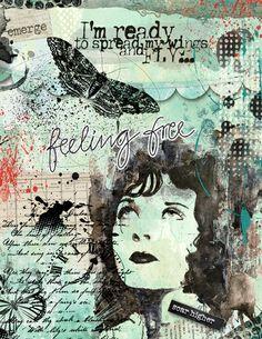 art journaling - Soar Higher - Scrap Art Studio Gallery