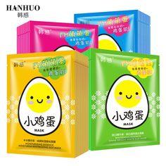 5Pcs HanHuo Small Eggs Facial Mask Moisturise Revitalizing Silk Mask Shine Bright White Beauty Cream Face Mask #Affiliate