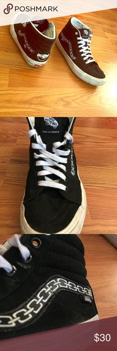 0e23ae711b234 Vans x sketchy tank vans high tops Fair condition vans