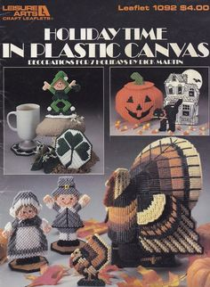 Holiday Time, Leisure Arts Plastic Canvas Pattern Booklet 1092 Halloween…
